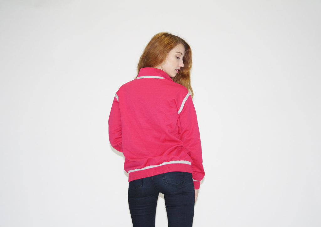 1990s Vintage Adidas Trefoil Warmup Pink Tainer Jacket