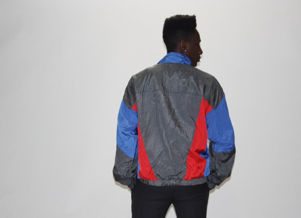 1990s Designer Givenchy Men's Colorblock Windbreaker