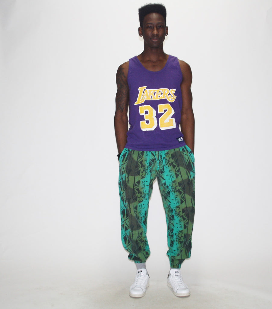 1990s Los Angeles Lakers 32 Magic Johnson Tank Top