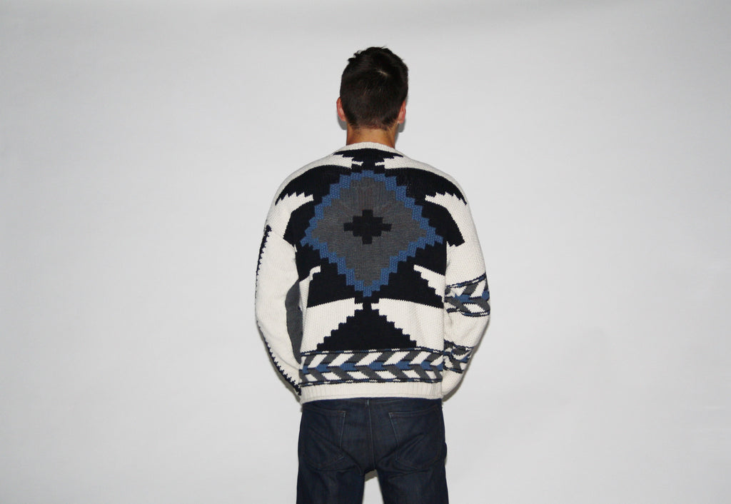 1980s Vintage Chaps South Western Winter Ski Sweater