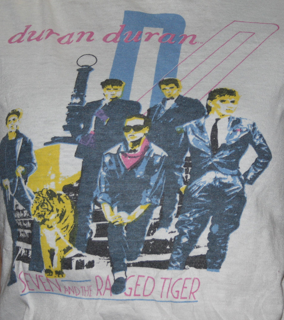 1980s Rare Vintage Duran Duran Seven and the Ragged Tiger Rock T Shirt