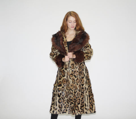 1940s Rare Authentic Vintage Jaguar Big Game Cat Fur Coat