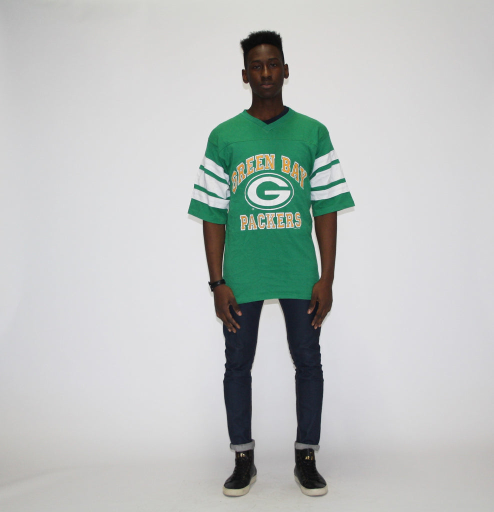 1980s Vintage Green Bay Packers Football Jersey Shirt