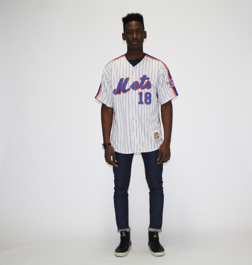 Vintage 1990s Darryl Strawberry 18 Mets MLB Baseball Jersey