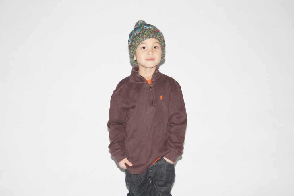 Kid's Vintage 1990s Brown Polo by  Ralph Lauren Sweater