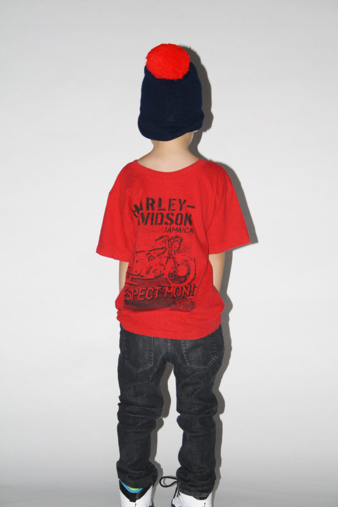 Kid's Vintage 1990s Red Harley Davidson T Shirt