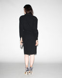 Designer Vintage 1980s Karl Lagerfeld Black Dress
