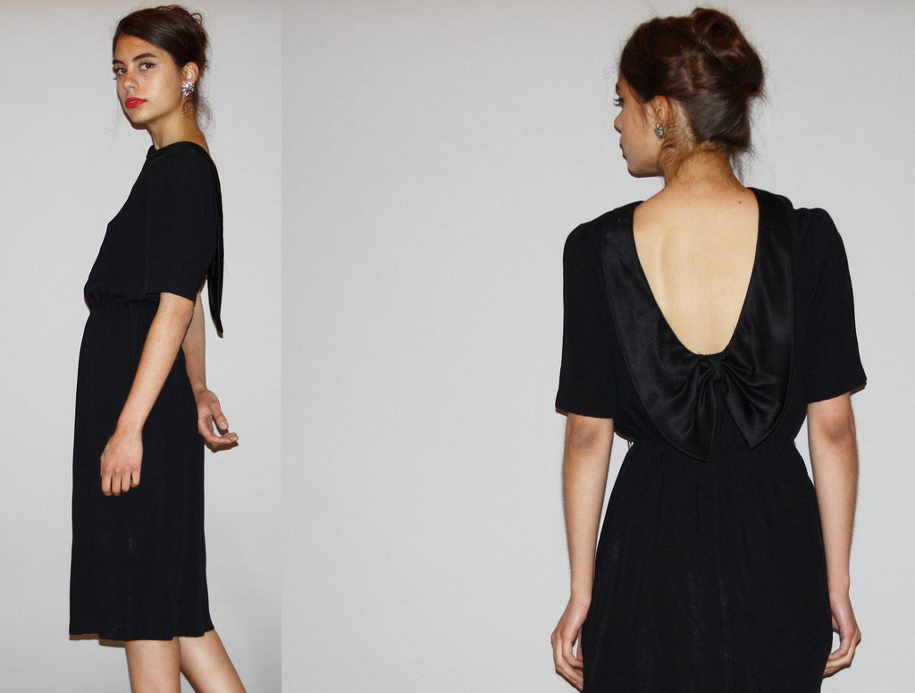 1980s Backless Little Black Dress LBD