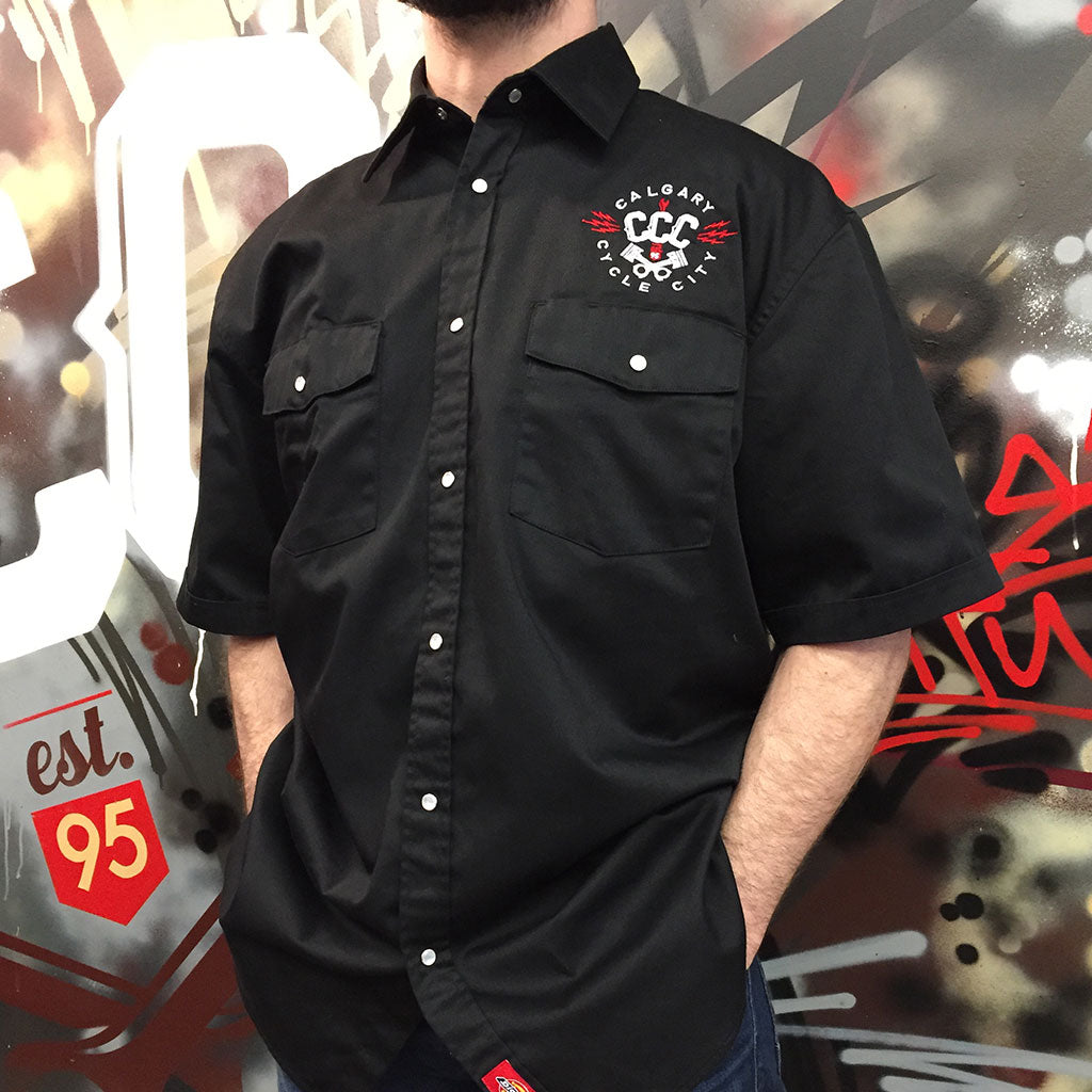Out of stock. CCC Dickies Embroidered Work Shirts