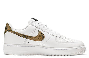 new style 15205 e2796 Nike Air Force 1 Low Retro Premium QS White   Elemental Gold