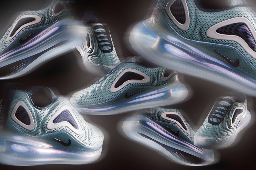 Nike Women's Air Max 720 Metallic Silver / Midnight Navy