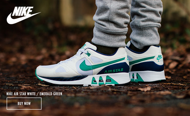 buy popular 56449 6fc36 NIKE AIR STAB WHITE EMERALD GREEN