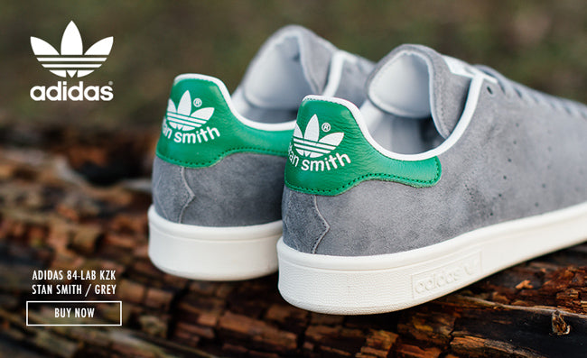 Adidas Stan Smith Grey And Green