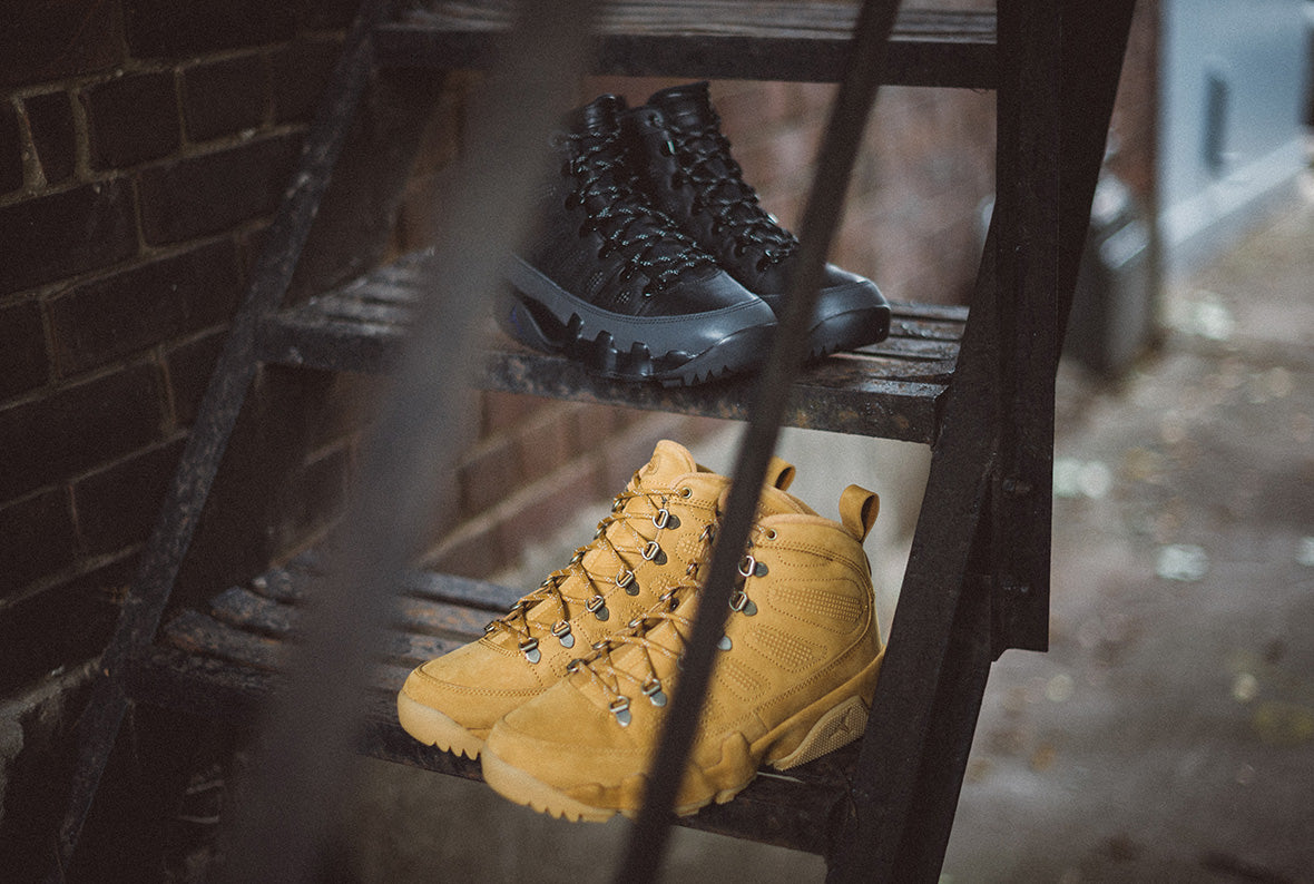 Jordan 9 Retro NRG Boot | Black & Wheat