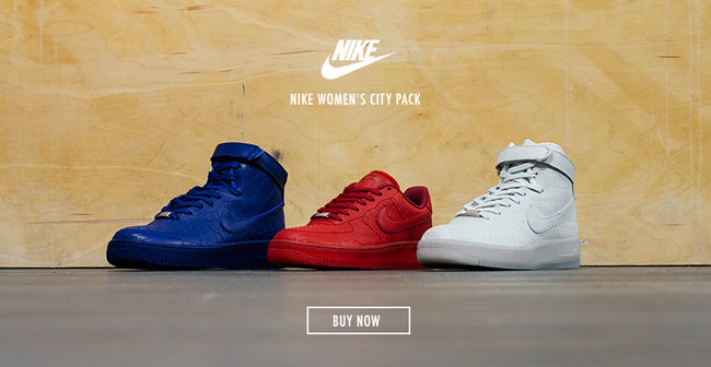 hot sale online 8a329 f31b5 NIKE WOMEN S AIR FORCE 1 CITY PACK