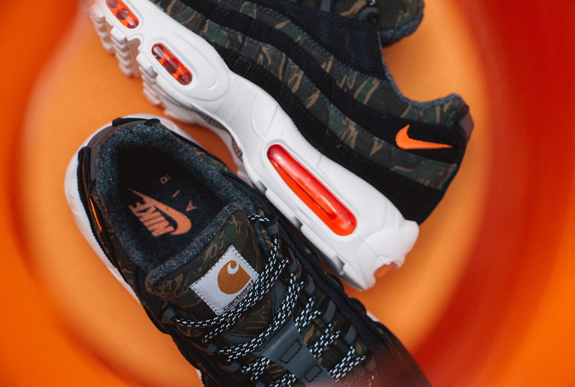 Nike x Carhartt WIP Air Max 95 Black / Total Orange