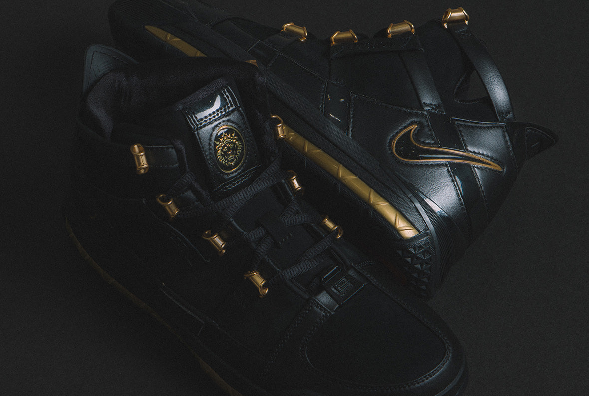 Nike Zoom Lebron III QS Black / Metallic Gold