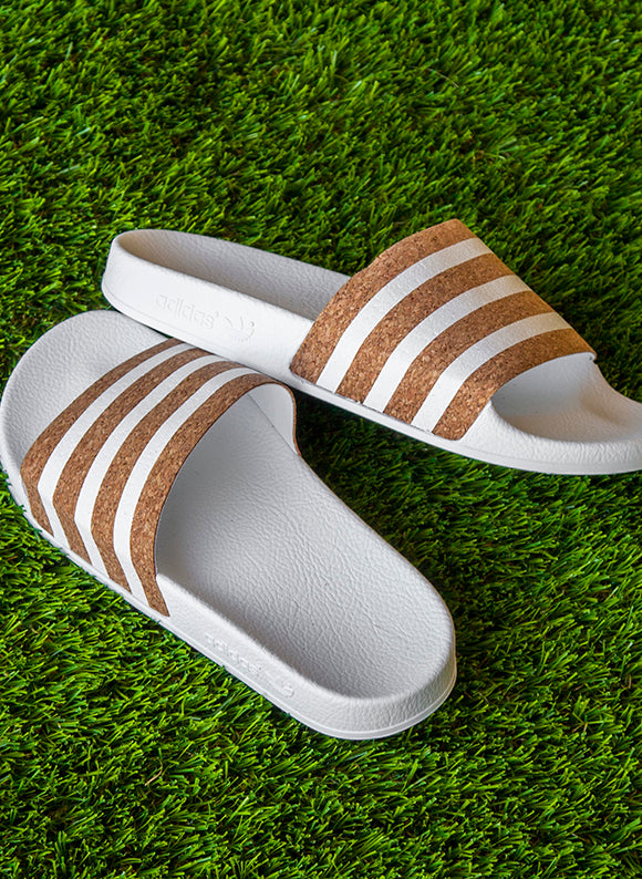 adidas Women's Originals Adilette Slides / White
