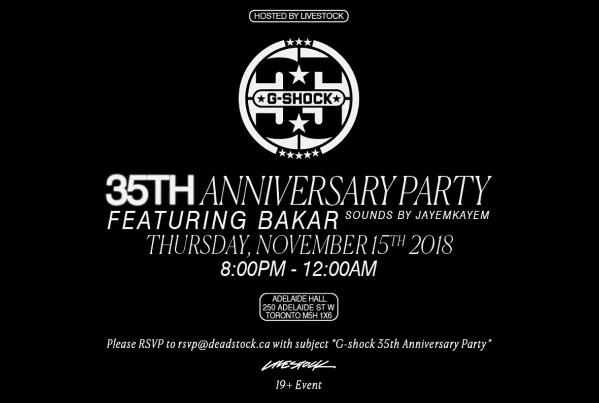 G-SHOCK 35th Anniversary Party hosted by Livestock