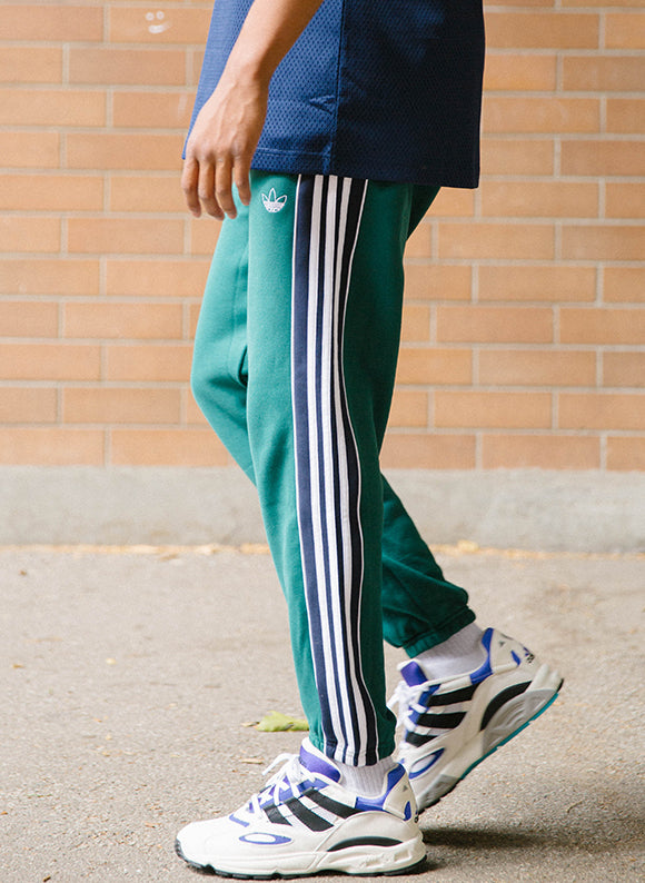 adidas 3-Stripes Panel Sweatpants / Collegiate Green
