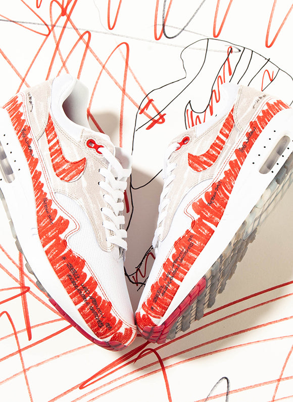 Nike Air Max 1 Sketch To Shelf White / University Red (CJ4286-101)