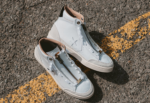 Converse x Ibn Jasper Pro Leather Mid White - Deadstock.ca