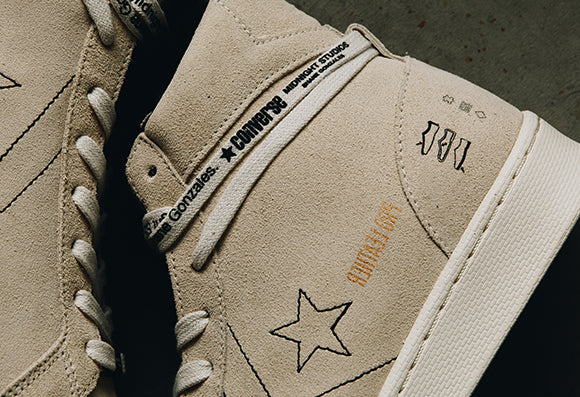 Converse x Midnight Studios Pro Leather Mid / White