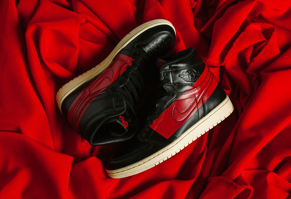 Jordan 1 Defiant Couture Black / Gym Red