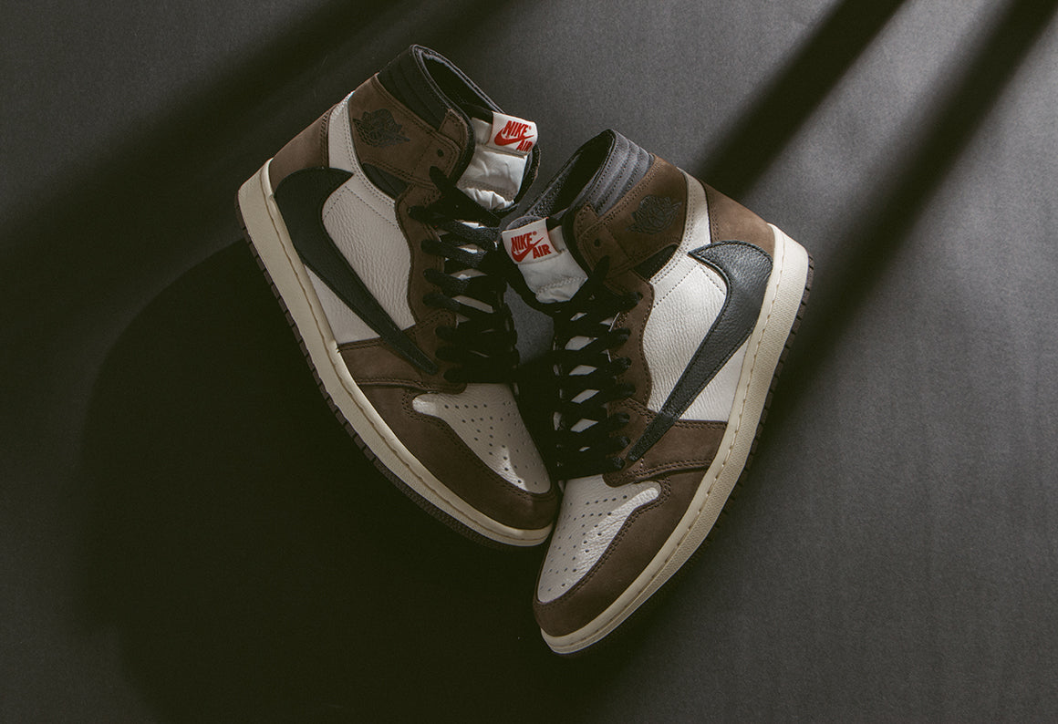 in stock 63e52 ac461 Jordan 1 High OG Travis Scott SP Sail   Black - Dark Mocha (CD4487-
