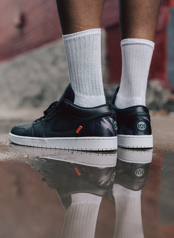 Jordan 1 Low x Paris Saint-Germain Black / Black (CK0687-001)