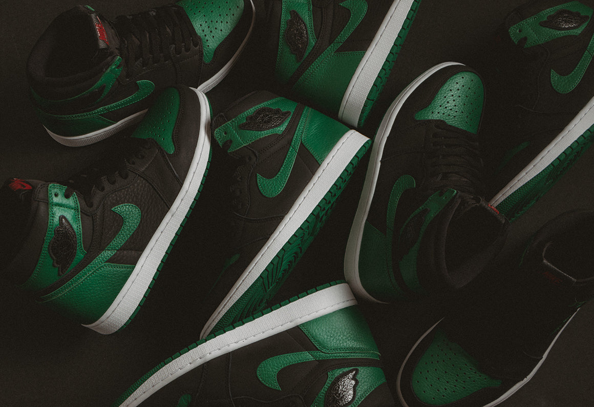 Jordan 1 Retro High OG Black / Pine Green