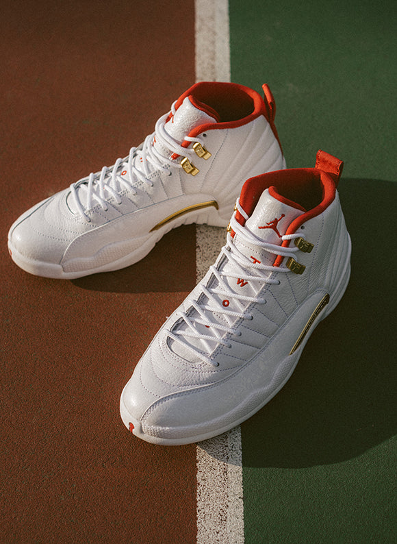 Jordan 12 Retro White / University Red (130690-107)