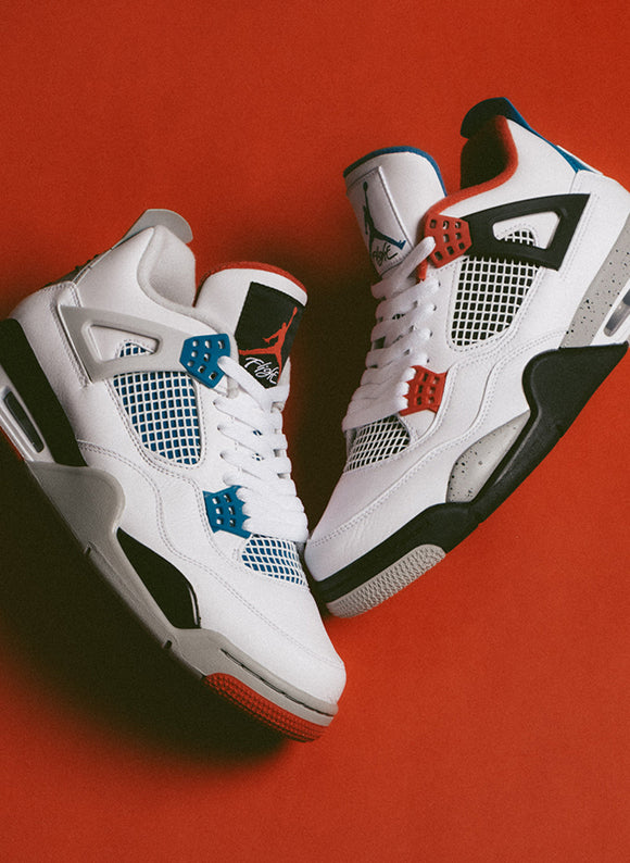 Jordan 4 Retro SE White / Military Blue