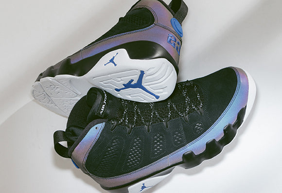 Jordan 9 Retro Black / White-Racer Blue