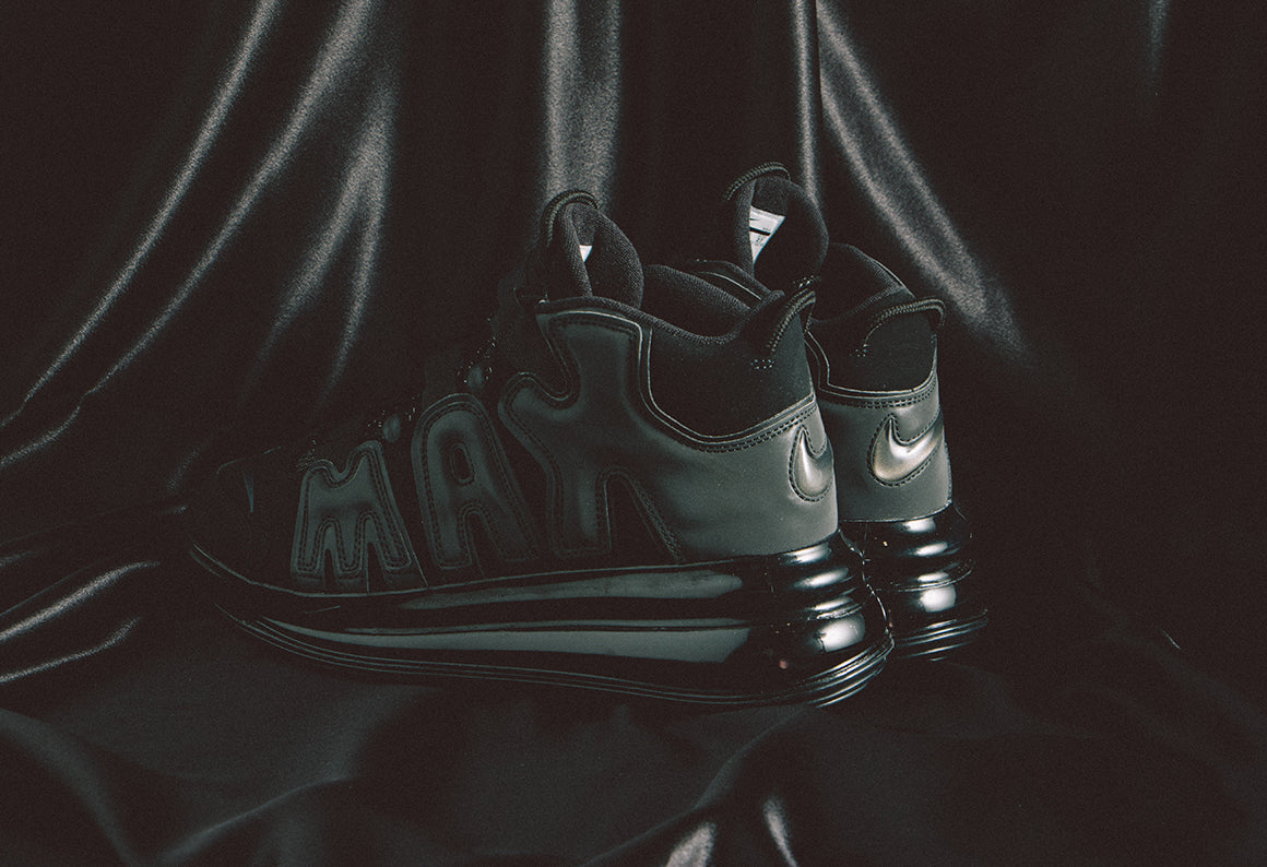 Nike Air More Uptempo 720 QS Black / Metallic Black