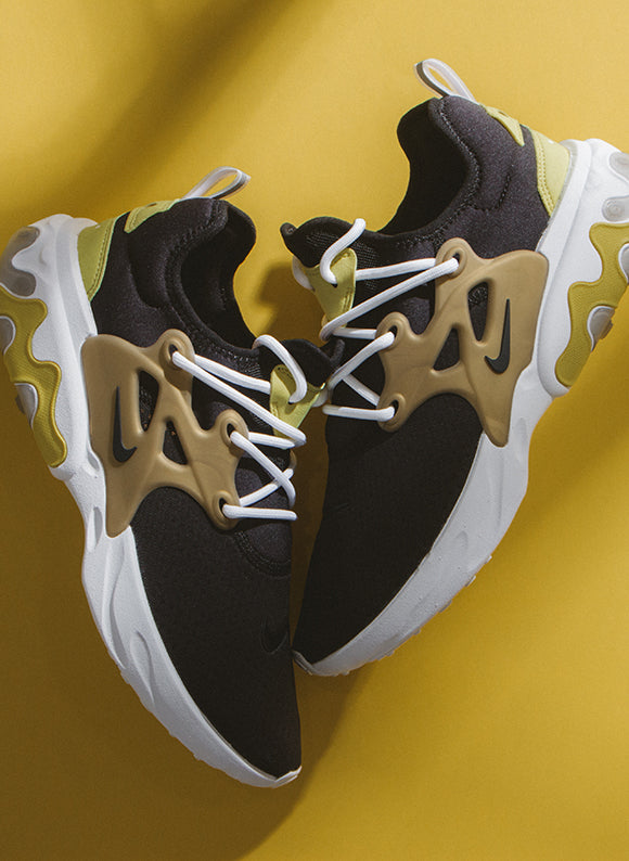 Nike Presto React Black / Black - Yellow Streak (AV2605-001)