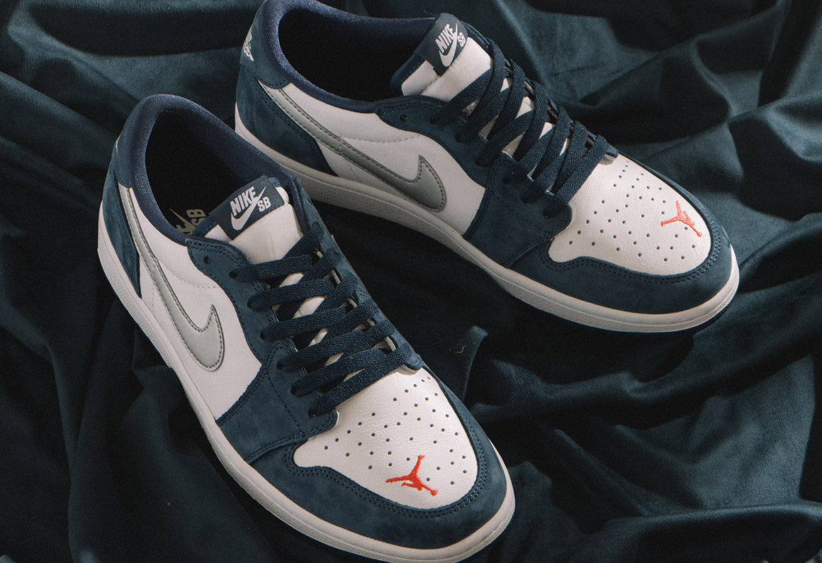 Nike SB Air Jordan 1 Low QS / Midnight Navy (CJ7891-400
