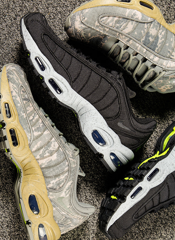 Nike Air Max Tailwind IV SP Dark Stucco / Sandtrap  and Nike Air Max Tailwind IV SP Black / Wolf Grey (BV1357-002)