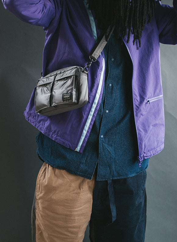 PORTER Tanker Shoulder Bag / Silver Grey
