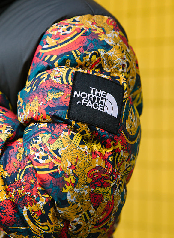 The North Face Black Box 1992 Nuptse Jacket / Leopard Yellow Genesis