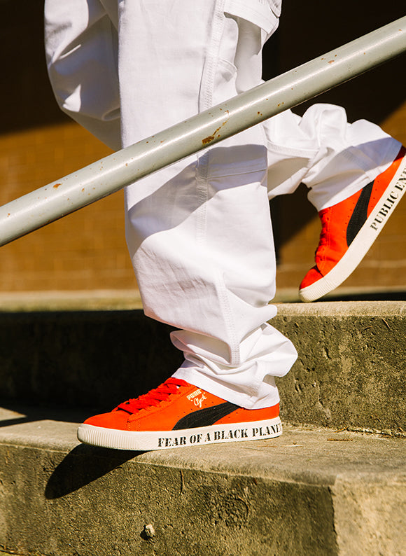 Puma Cream x Public Enemy Clyde