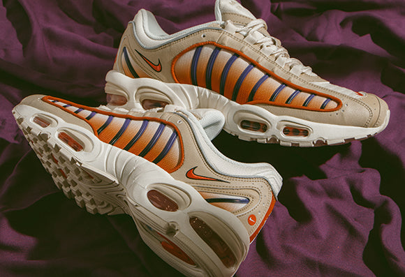 quality design 895a9 0af0e Nike Air Max Tailwind IV Desert Ore and Nike Air Max 98 Sail   Court Purple