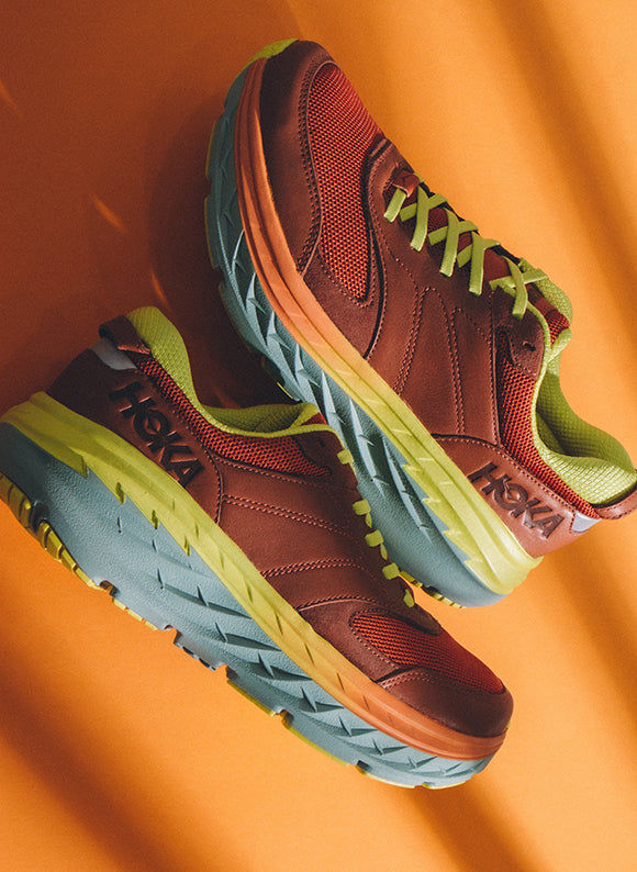 Hoka One One Bondi Lifestyle Leather Auburn / Chilli