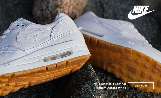 NIKE AIR MAX 1 PREMIUM ACCESS WHITEWHITE OSTRICH LEATHER
