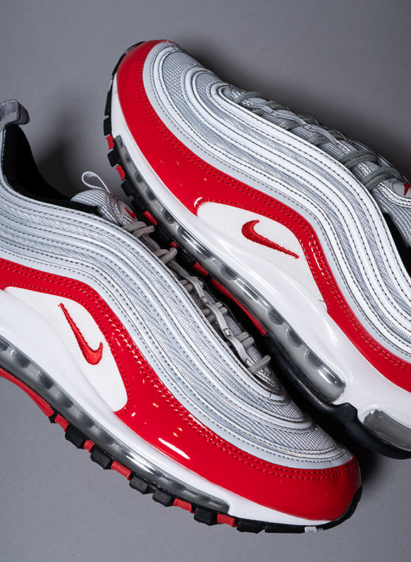 Nike Air Max 97 Pure Platinum / University Red