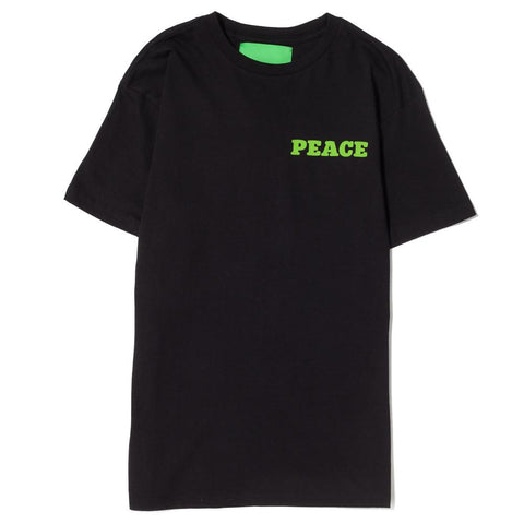 MISTER GREEN PEACE PLEASE T-SHIRT BLACK / GREEN