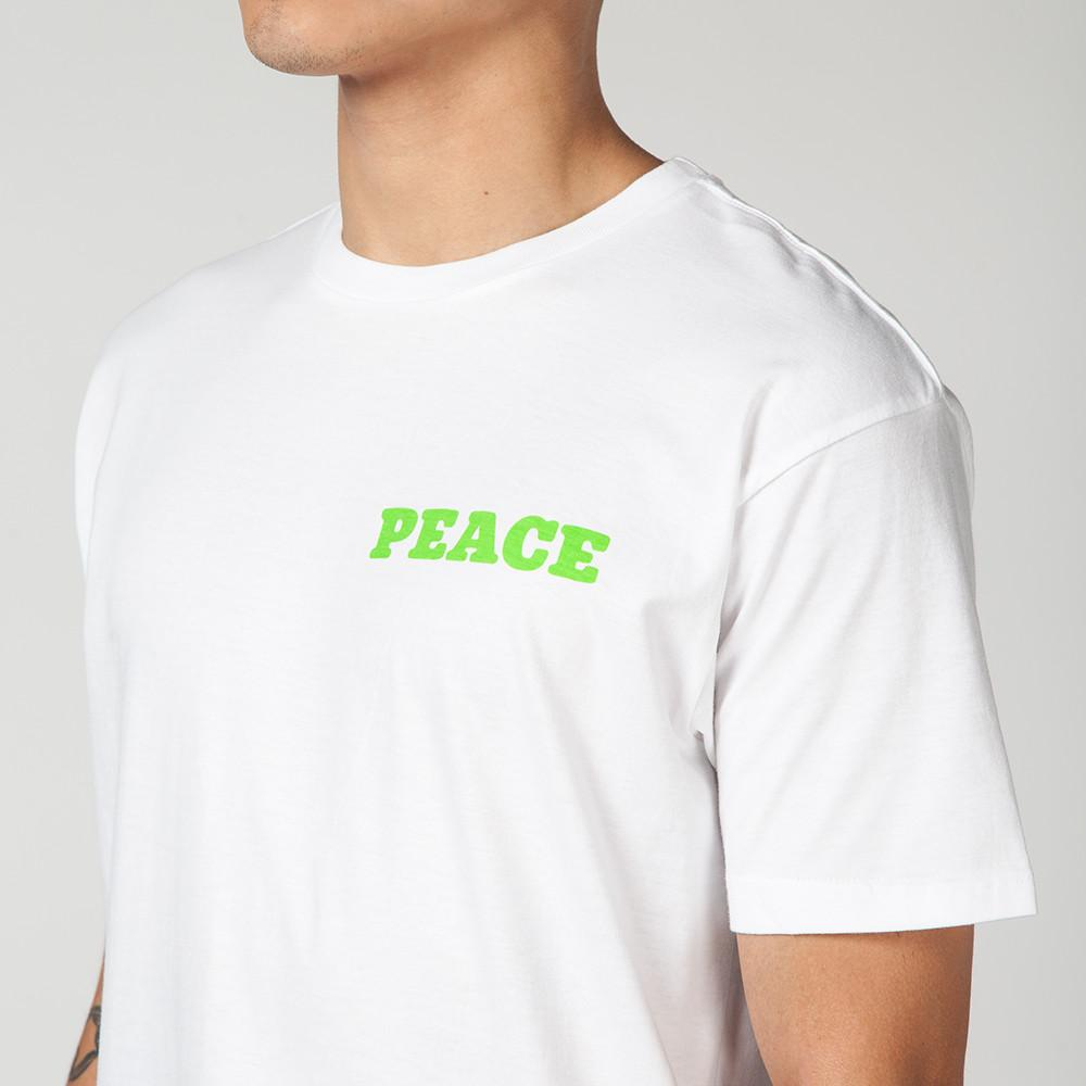 MISTER GREEN PEACE PLEASE T-SHIRT WHITE / GREEN