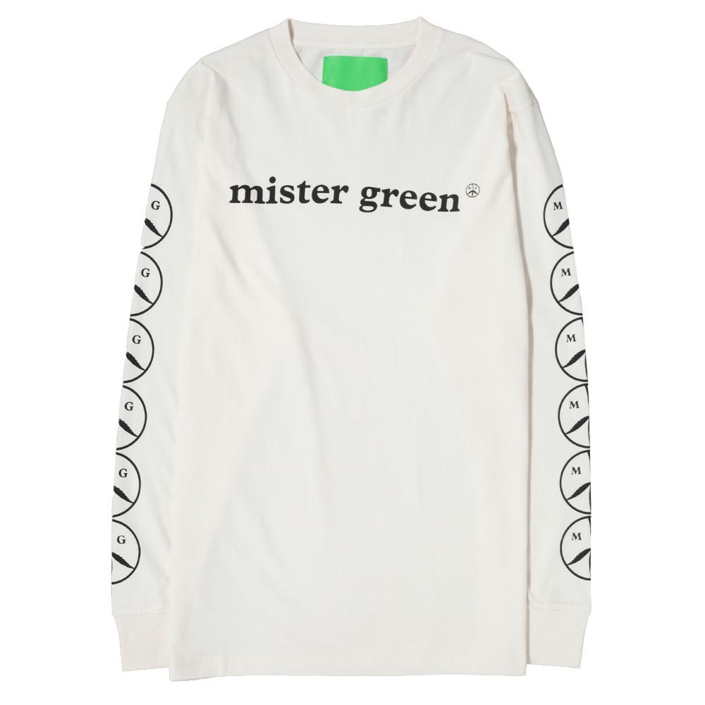 MISTER GREEN MG WOODMARK LONG SLEEVE T-SHIRT / WHITE