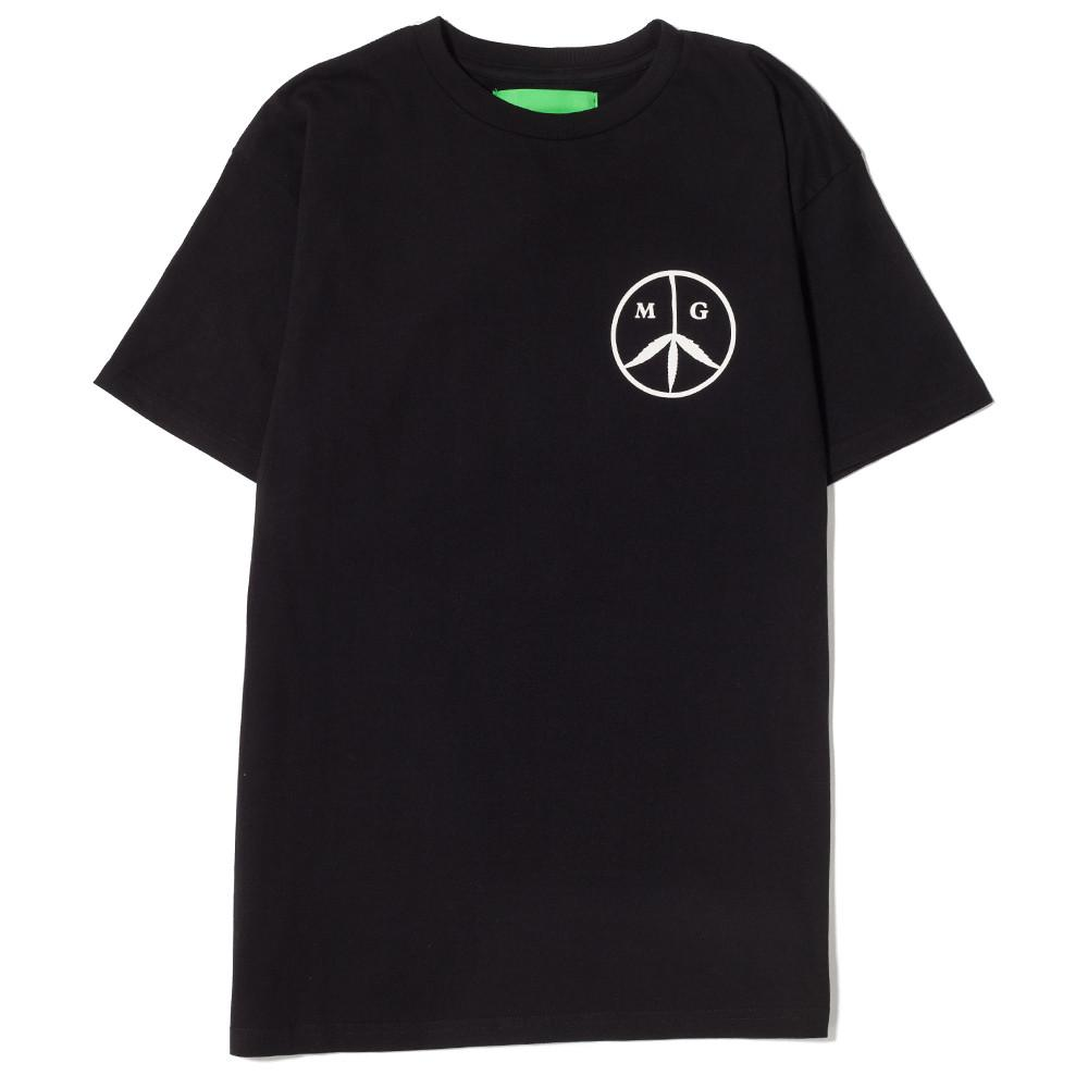 MISTER GREEN MG PEACE T-SHIRT BLACK / ROSE QUARTZ