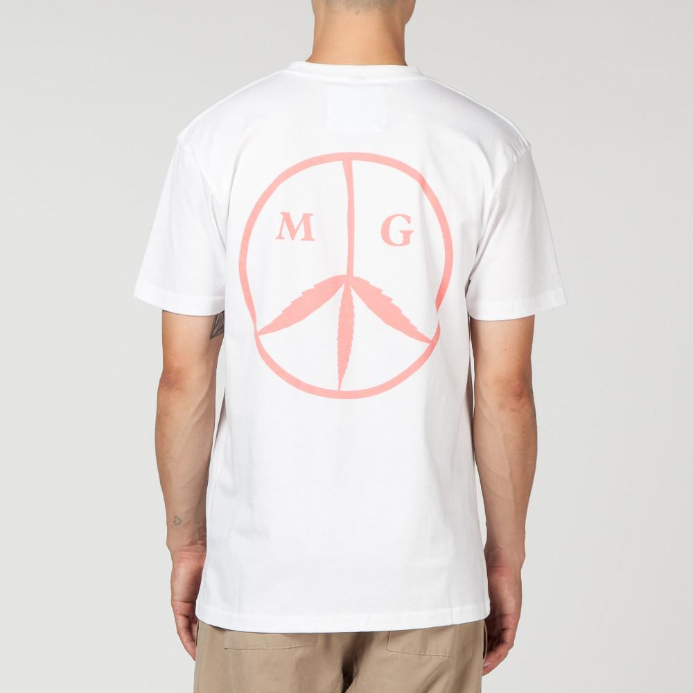 MISTER GREEN MG PEACE T-SHIRT WHITE / ROSE QUARTZ